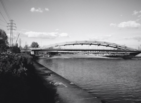 Vistula Riverside in B/W